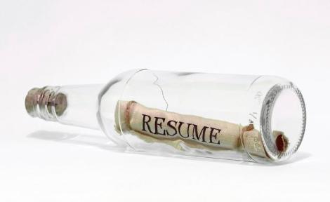 resume in a bottle